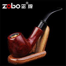 ZOBO genuine Ray Lui endorsement authentic imported red sandalwood curved tobacco pipes Smoking Kit(China)