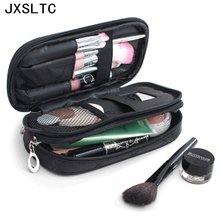 Fashion Brand Mini Double Women Travel Necessaries Makeup Storage Beauty Cosmetic Bag Wash Toiletry Organizer Make up Brushes(China)