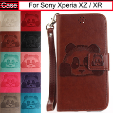 JURCHEN Case For Sony Xperia XZ / XR Case Cover Soft Wallet Luxury Leather Flip Silicone Back Cover For Sony Xperia XZ Case 32(China)