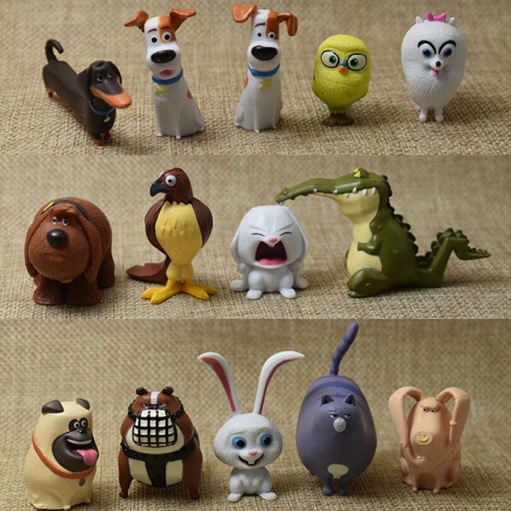 14pcs/lot Movie Figure The Secret Life of Pets Action Figure Set Collectible Model Toys 3-4.5cm<br><br>Aliexpress