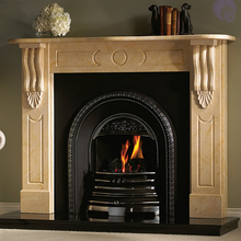 stone fireplace mantel English style custom made carved natural marble mantel(China)