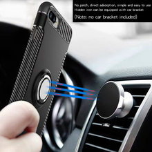 Magnet Car Hybrid PC+TPU Ring Holder Stand Shockproof Hard Phone Case Cover For iPhone 5 6S Plus 7 Plus Samsung S7 Edge S8 Plus(China)