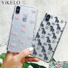 Buy YiKELO Cute Animal Zebra Sheep Phone Case Coque iPhone 8 6 6S 7 Plus X Soft Transparent Silicon Capa Cover iPhoneX for $1.23 in AliExpress store