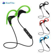 EastVita Bluetooth Wireless Stereo Earbuds IPX4 Sweatproof Sport Earphons with Mic Secure Earhook for iPhone Android Phones