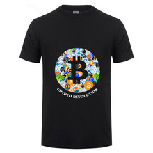 Buy T Shirt Cryptocurrency Bitcoin Litecoin Dash Zcash Ethereum Monero Homme T-shirt Short Sleeve 100% Cotton Men hombre camiseta for $6.05 in AliExpress store