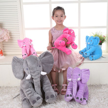 30CM Big Plush Elephant Pillow Toys Soft kawaii Stuffed Inflatable Large Dolls For Kids Children Baby Christmas Birthday Gift(China)