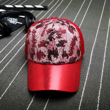 2017 Sequins Paillette Bling Shinning Mesh Baseball Cap Striking Pretty Adjustable Women Girls Party Club Gathering Hats(China)