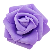 High Quality 100pcs / bag 6cm Foam Rose Heads Artificial Flower Heads Wedding Decoration(light purple)
