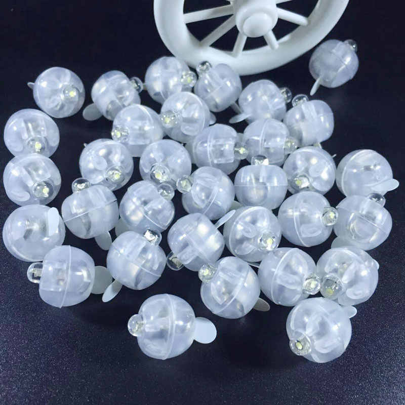 50pcs /lot White LED balloon light round battery operated ballon lights for Wedding party Valentine's Day Birthday Decoration