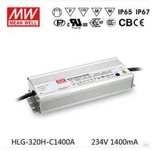 Original Taiwan Meanwell LED Driver HLG-320H-C1400A 1400mA 320.6W Constant Current power supply(China)