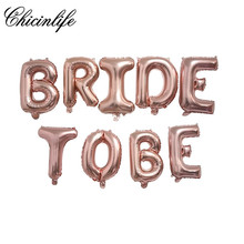 Chicinlife BRIDE TO BE foil letter balloon banner Bachelorette Hen Party Bridal Shower Wedding Celebration decoration supplies(China)