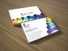 350gsm laminated art paper business cards +free shipping(China)