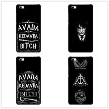 Avada Kedavra Bitch shirt for Harry Potter Design phone cover cases ForHuawei P8 P9 Lite Hard Plastic Shell