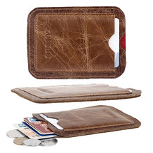Genuine Leather Card Holders Wallet Coin Purse for Credit Card Driver License ID Bus Metro Card Solid Leather Pockets