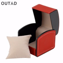 OUTAD Luxury Watch Boxes Case Line Trim Leather With Suede Pillow Jewelry Packaging WristWatch Gift Winder relogio masculino