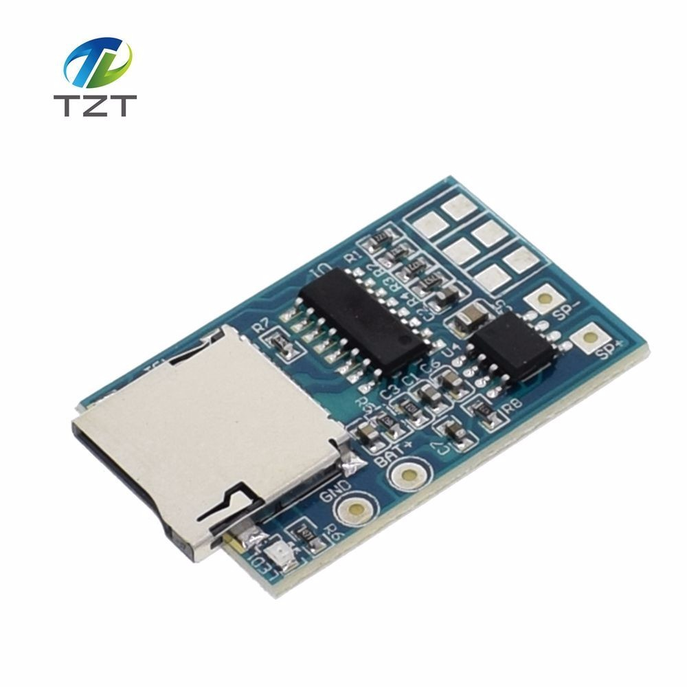 Sweet-Tempered Gpd2846a Tf Card Mp3 Decoder Board 2w Amplifier Module Active Components Integrated Circuits