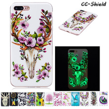 Luminous Fitted Case for Apple iPhone 7 Plus 5.5'' inch Painting IMD + TPU Soft Silicone phone case for Apple iPhone 7plus cases