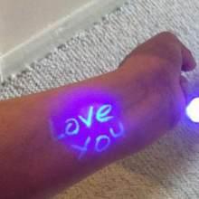 1Pcs Funny Magic Purple 2 In 1 UV Graffiti Black Light Combo Creative Stationery Invisible Marker pen Highlighter Ink Pen(China)