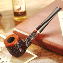Smoker Briar Wood Smoking Pipe Straight Type Wooden Tobacco Pipe for Smoking Weed New Handmade Weed Pipe Gift for men