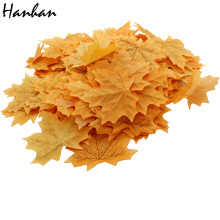 Hanhan Hot Sales Approximately 100pcs Assorted Rich Fall Colored Silk Maple Leaves Artificial Leaves