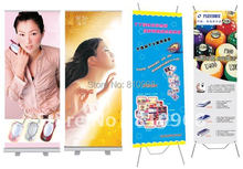 trade show roll up banner with printed your logo or graphic, custom X banner