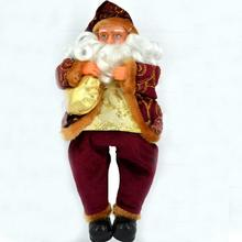 35CM Santa Claus Doll Merry Christmas Party Christmas Gift Doll Ornaments Sitting Dolls Best Xmas Gift for Children Kids