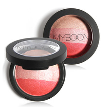 MYBOON 3 Colors Baked Blush Makeup Cosmetic Natural Baked Blusher Powder Palette Charming Cheek Color Make Up Face Blush(China)
