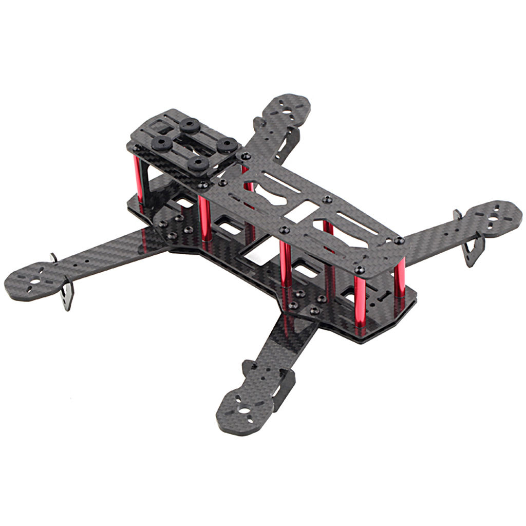 250mm Mini Multicopter Quadcopter Racing Drone Glassy Carbon Frame Kit FPV QAV