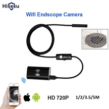 Wireless Endoscope camera Waterproof IP67 USB Borescope Inspection camera 1M 2M 3.5M 5M for android ios phone IR led snake tube