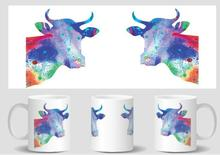 cow mugs Tea art cold hot heat sensitive mug friend gifts transforming mugen heat changing color