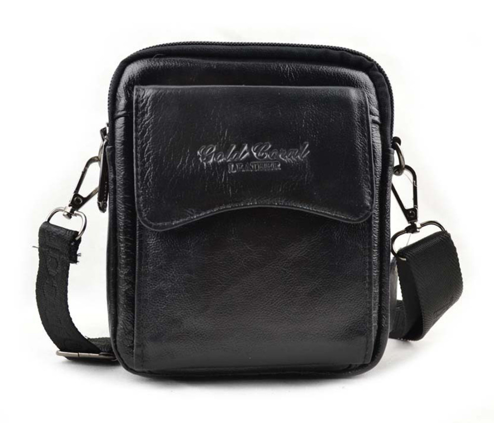 New Mens Genuine Leather Cross Body Messenger Shoulder Pouch Casual Belt Hip Waist Pack Fanny Bag Purse<br><br>Aliexpress
