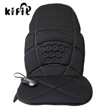 KIFIT Practical Heated Back Massage Chair Cushion Massager Car Seat Home Pad Pain Lumbar Neck Health Care Tool(China)