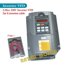 EU/ USA/ RU Delivery! 2.2KW 220V 3HP Variable Frequency VFD Inverter Output 3 phase 400Hz 10A &Extension cable/control panel box