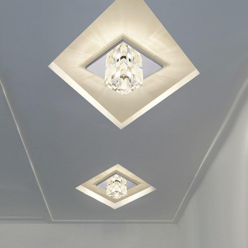 Aisle Crystal Ceiling Light 5W Foyer Ceiling Light Corridor  Led Ceiling Lamp Home Decor Creative LED Crystal Ceiling Lamp<br><br>Aliexpress