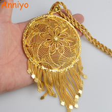 Anniyo  Ethiopian Very Big Pendant and Necklaces Women's African Jewelry Gold Color/Nigeria/Congo/Sudan/Ghana/Arab Gifts #064306