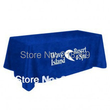 Exhibition 4 sided or open back Full Printed Table Throw / Company logo printing Table cover