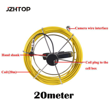 20m 20 Meter Fiberglasses Cable With Camera Connector For 23mm Pipe Inspection Snake Camera Replacement Repair(China)
