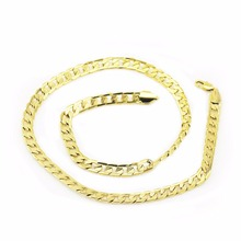 men chain necklace gold color promotion men Chain chocker Chunky link Necklace jewelry Fashion winter new year gift 1781