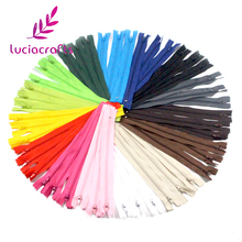 Lucia crafts 20cm Length Colorful Nylon Coil Zippers Tailor Garment Sewing Handcraft DIY Accessories 6pcs/15pcs 089055(China)