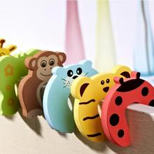 1 PCS Child Finger Corner Guard Baby Infant Safety Protector Stopper Kids Cute Cartoon Animals Door Jammer