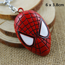 Popular Movie Figures Superheroes Deadpool Batman Superman Spiderman Metal Keychain Key Ring Pendants Toys(China)
