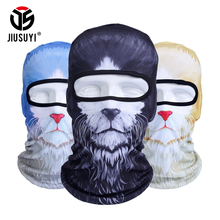 3D Animal Cat Dog Bicycle Hats Cap Balaclava Snowboard Winter Warmer Helmet Liner Protection UV Full Face Mask(China)