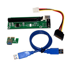 New Arrive PCIE PCI-E Express SATA Power Cable Extender USB3.0 1x to 16x Riser Card Adapter
