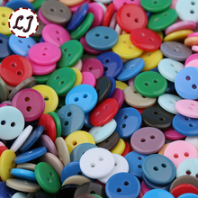 Free Ship 100pcs/lot Resin Sewing Button Round 2 Holes 8.75mm( 0.34in) Dia accessory scrapbooking for child cloth Candy color
