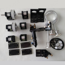 co2 laser engraving and cutting machine CNC machine  whole set of spare parts with head and mirror mounts