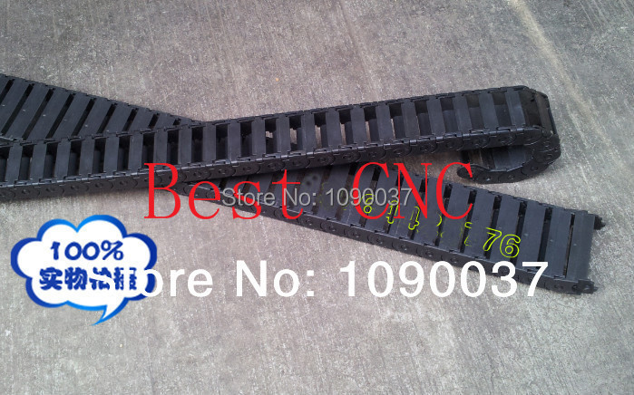 Free Shipping 1pc 18X25mm Open Drag Chain - Cable Carrier 18*25mm 1000mm plastic cable chain with End Connectors<br><br>Aliexpress