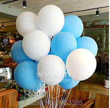 "24 Count 12"" Aqua Blue & White Latex Helium Thickening Balloon For Wedding Birthday Party Outdoor Hanging Decoration(China)"