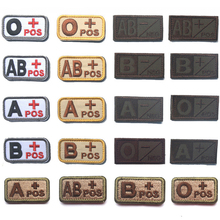 30 PCS Embroidery Patch Tactical Badge A/B/O/AB Positive Negetive Military Blood Type Morale Fastener Patches For Hats Wholesale