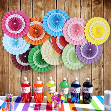 15/20/25/30/35/40cm Multi-Layer Paper Fans Wedding Backdrop Decoration Babyshow Party Supplies Valentine's day Decoration