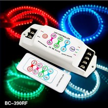 BC-390RF DC 12V/24VWireless rgb led RF controller touch pannel PWM dimmer 8A/CH*3 CH , 36 programs, High Quality